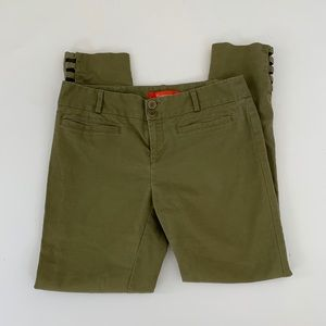 Anthropologie Cartonnier olive green cropped pant